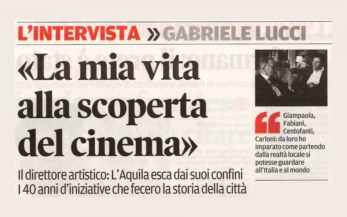 Intervista di Giustino Parisse a Gabriele Lucci